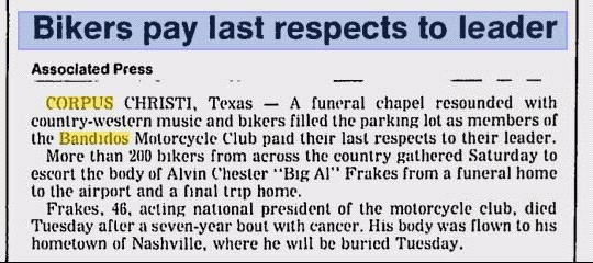 Bandidos pay last respects